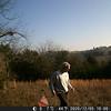 Jim Benton setting game camera at the start.