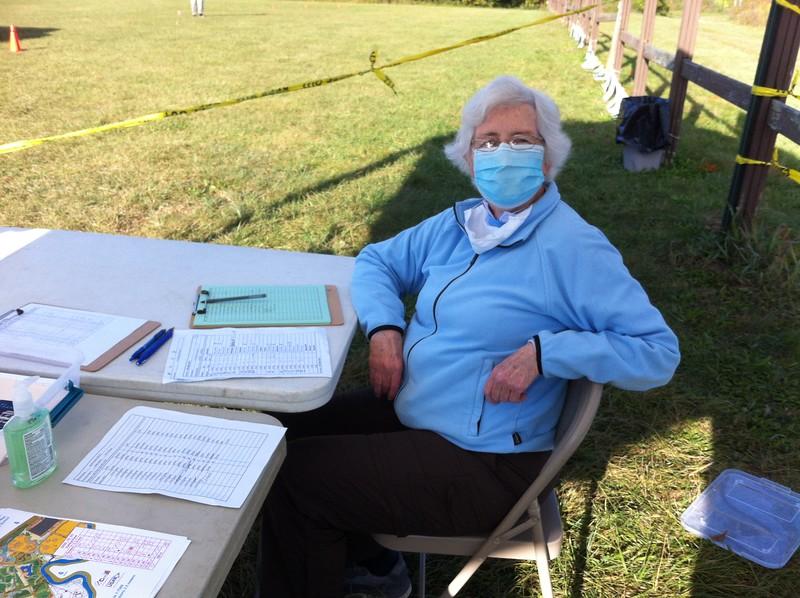 Registration volunteer Joyce Whalen