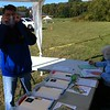 registration volunteers Bob Frey and Joyce Whalen