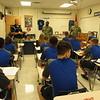 Hamilton JROTC cadets get instruction the day before.
