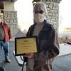 Shane Dawalt receives the Orienteering USA Golden Service Award