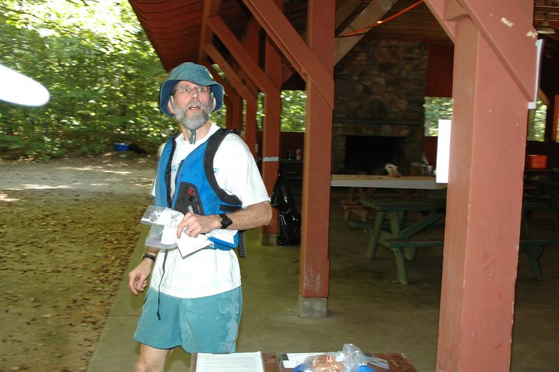 <b>Darrell checks his time as he finishes</b>   (Sep 11, 2004, 10:07am)