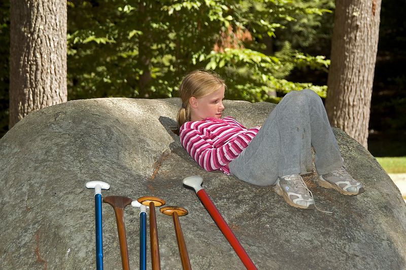 <b>Ceire Fleming relaxes on a rock</b>   (Sep 10, 2005, 12:24pm)