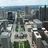 View from Gateway Arch, St Louis, MO, June 1