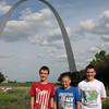 Sam, Brennan, and Addison June 1, Gateway Arch, St. Louis, MO
