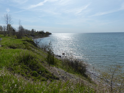 Lake Ontario shoreline at Lucas Point Park