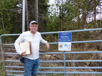 Frank Godfrey at property gate