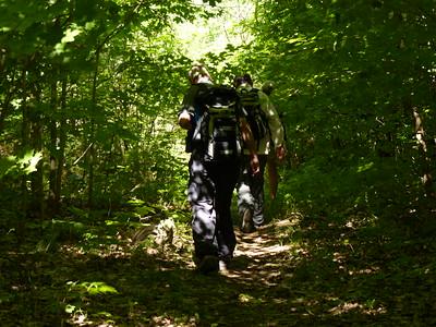PFN members walking the trail