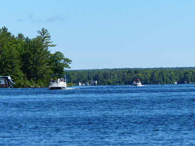 Naturalists on the Big Island tour who travelled by boat from Bobcaygeon.