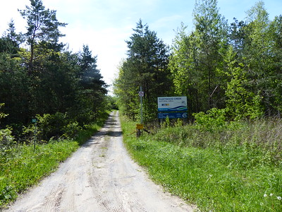Entrance sign for Fleetwood Creek Natural Area