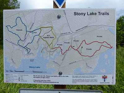 Stony Lake Trails map