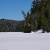 Winter scene on lake in Algonquin Park