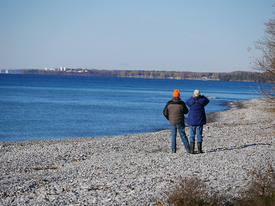 WBFN members bird watching from Chub Point