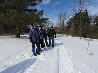 PFN members enjoying a beautiful winter day on the trails