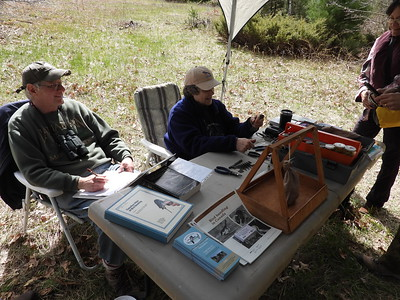 Roger and Elizabeth contributing to education and citizen science with their bird banding demonstration