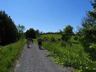 PFN members walking the Lang-Hastings Trail