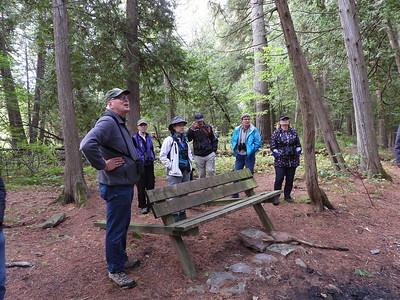 Drew Monkman leading the group along Promise Rock Nature Trail
