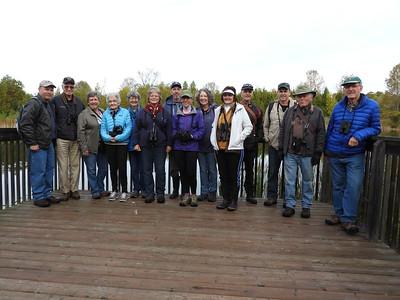 PFN members at start of walk along Millbrook Valley Trails