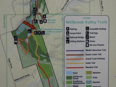 Map of Millbrook Valley Trails