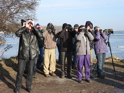 PFN members observing birds
