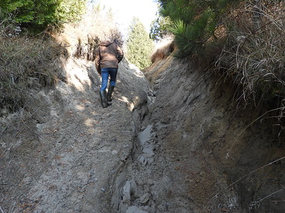 Gully erosion caused by off-road motorcycles and ATV's