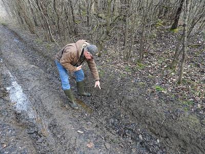 WBFN members inspecting a deer run