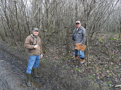 WBFN members inspecting a deer run