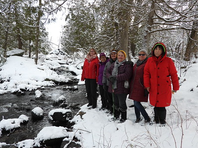PFN members enjoying the nice views along Silent Lake Creek