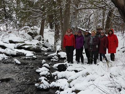 PFN members enjoying the nice views along Silent Lake Creek