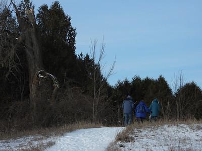 PFN members walking past the Porcupine tree