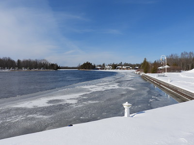 Upriver view into Katchewanooka Lake in Lakefield  while viewing waterfowl
