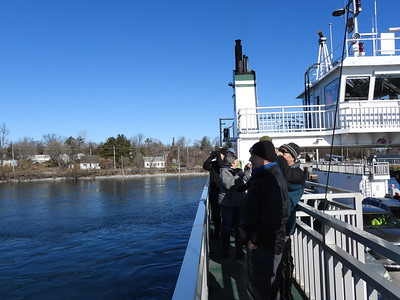 Amherst Island ferry leaving from mainland and going to the island.