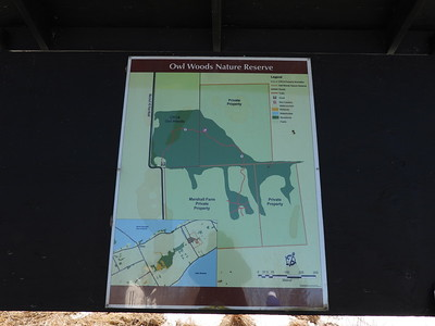Signs at Owl Woods Nature Reserve
