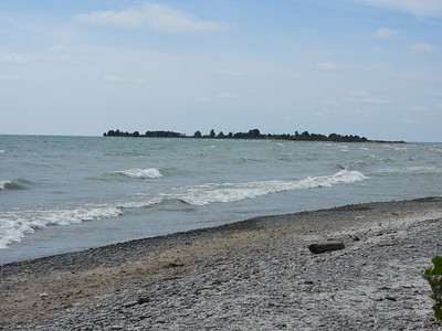 View from shore near Owen Point looking out to Gull Island