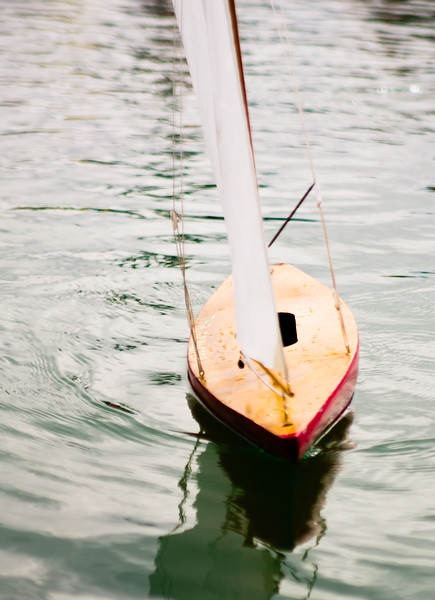 Model boat on model lake