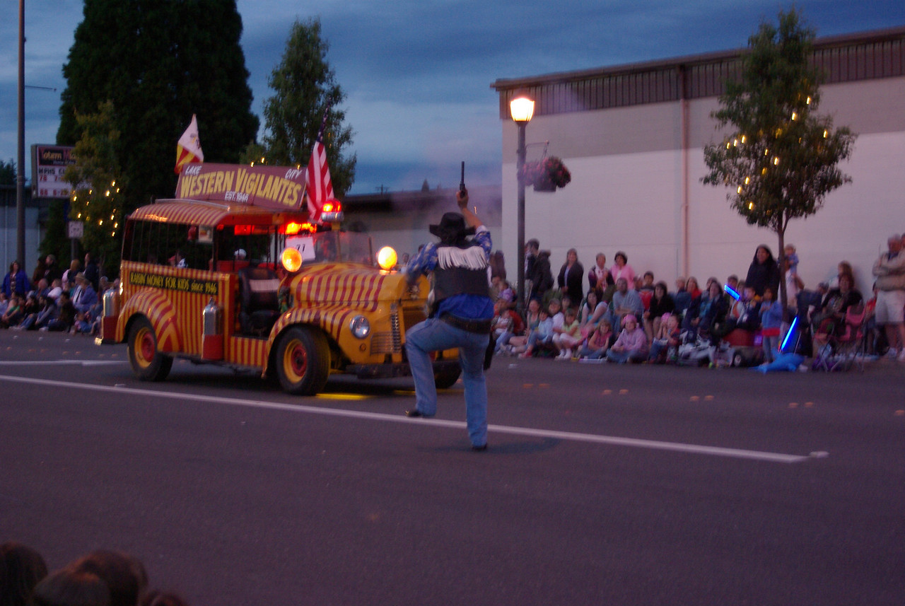 what's a parade without the Western Vigilantes!