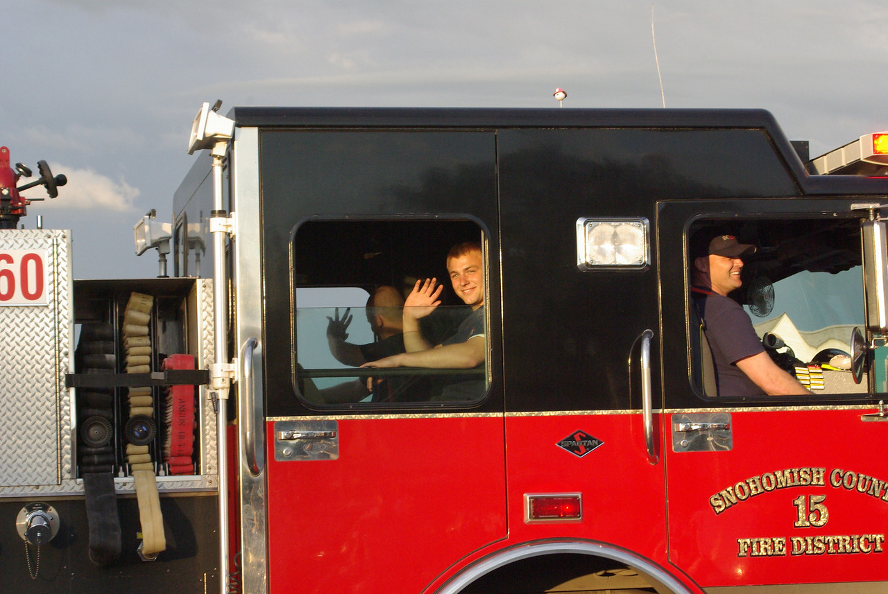 The firemen are cute!