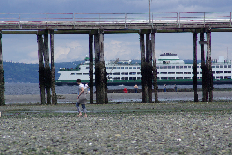 Edmonds Ferry as seen through the oil dock.