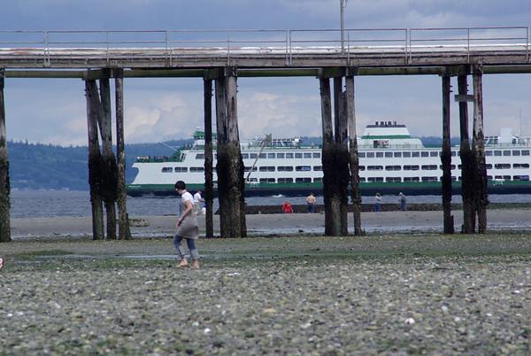 Edmonds Ferry as seen through the oil dock.