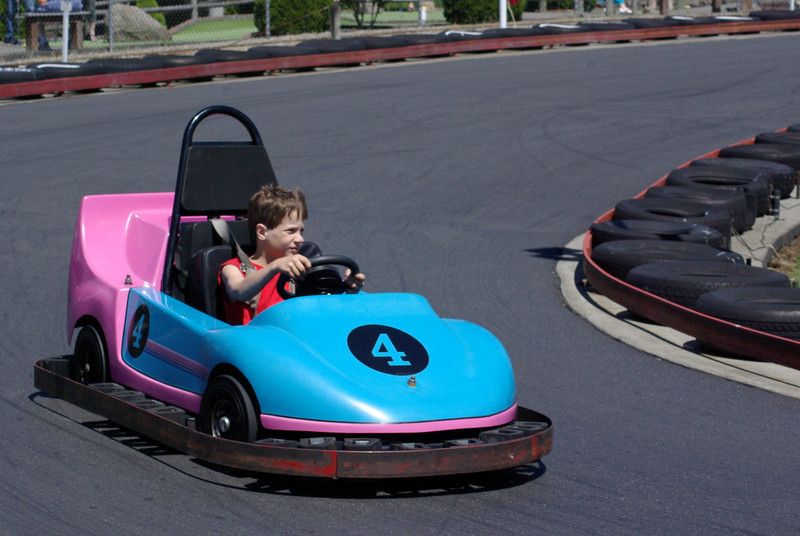 Keegan at go-karts