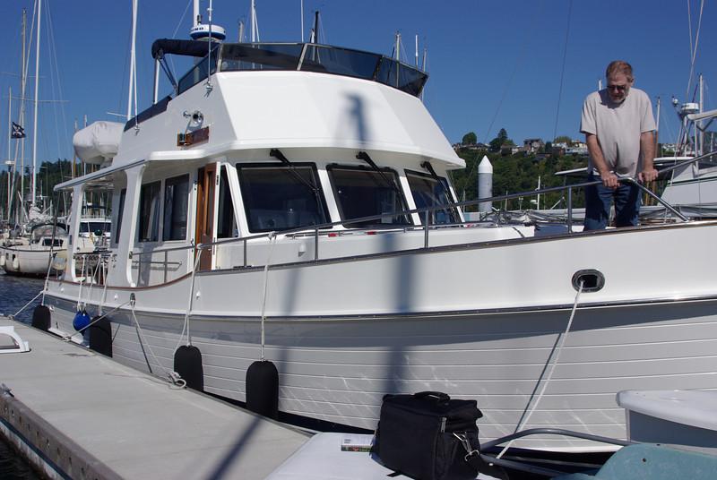 Bob's new boat. 47' Grand Banks, the Emily