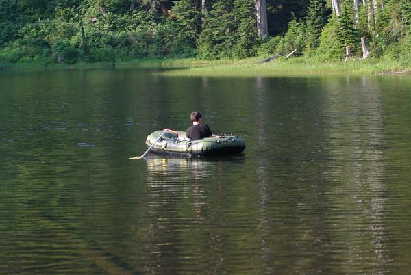 Jake fishing on Lake Elizabeth