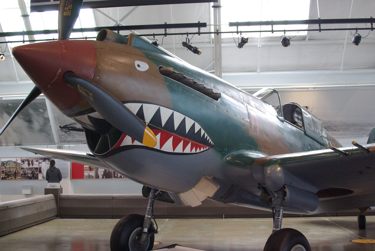 P40 painted up for Flying Tigers flown in Burma.
