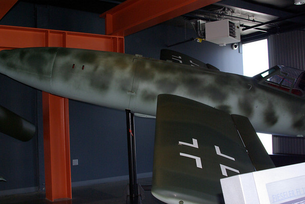 experimental v2 - German - frequently blew up on landing.  A type of guided missile