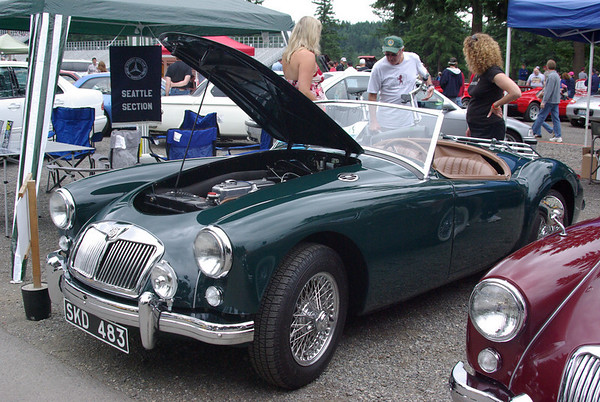 MG A 1958.  My father had a 1959 model in the early 60's.  This one was beautifully restored.