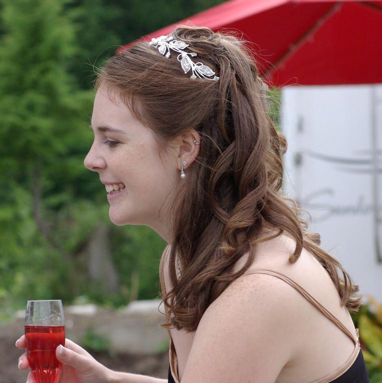 The bride, Jen