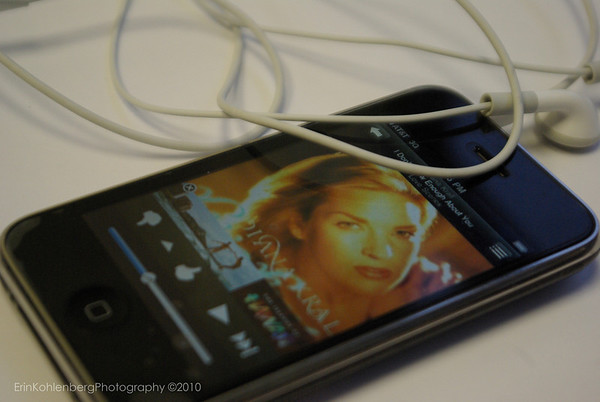 "Daily Photo 1/12/10. Daily Shoot #ds58. ""Music is what feelings sound like"". Make a photo of something musical. Here's my office entertainment, and the wonderful Diana Krall."