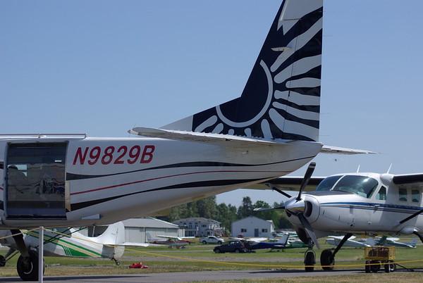 the plane.  it's tiny.