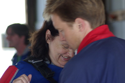 Yvonne & Susan jump out of a plane