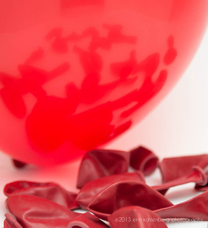 Assignment #7 was a concept shot. we had to shoot RED BALLOONS. this was done on my table.